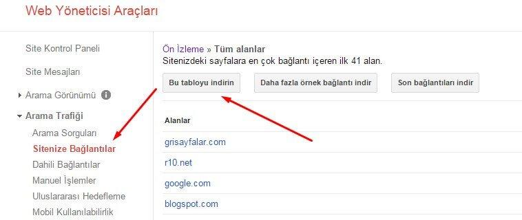 google disawow link araci 1