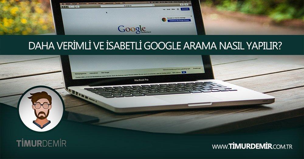 verimli google aramalari