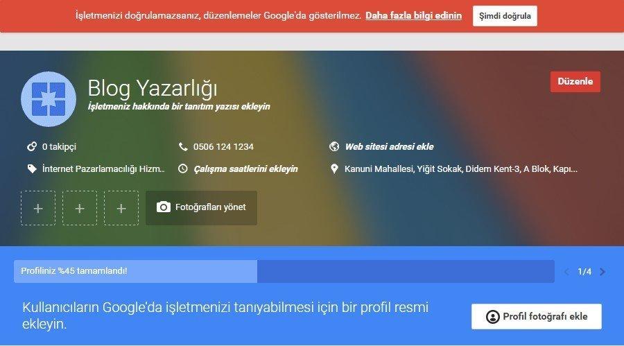 googleda ucretsiz reklam